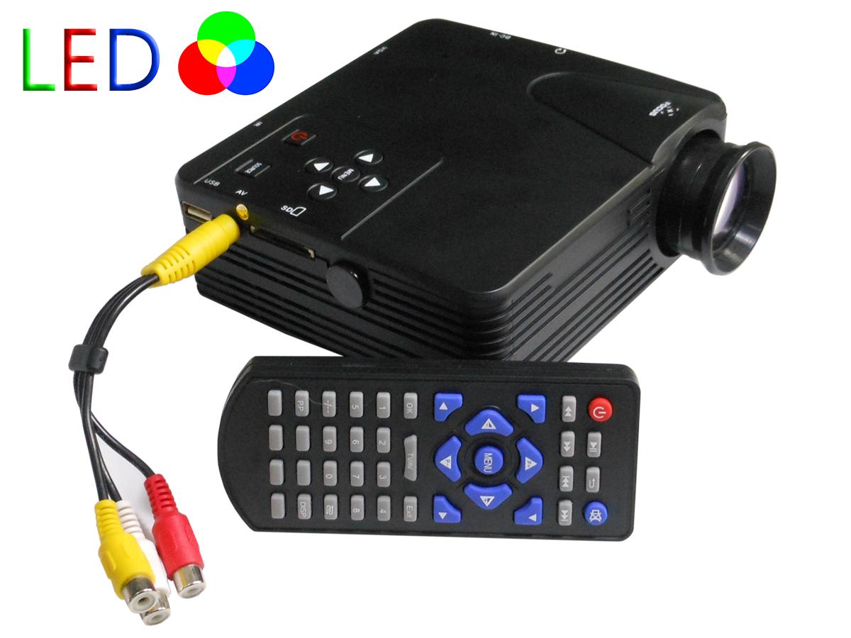 Mini proiettore portatile led videoproiettore home cinema for Proiettore led