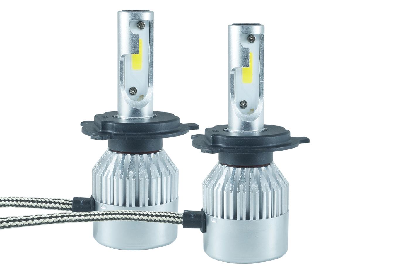 Kit coppia lampadine h4 t6 lampade led fari luci auto for Lampadine led per auto