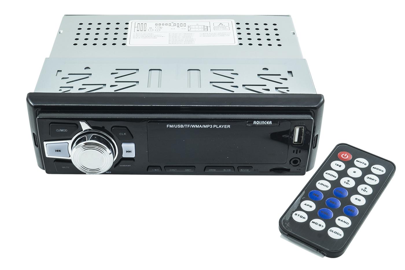 STEREO AUTORADIO AUTO RADIO FM MP3 USB SLOT SD MMC AUX OROLOGIO DIGITALE 6247