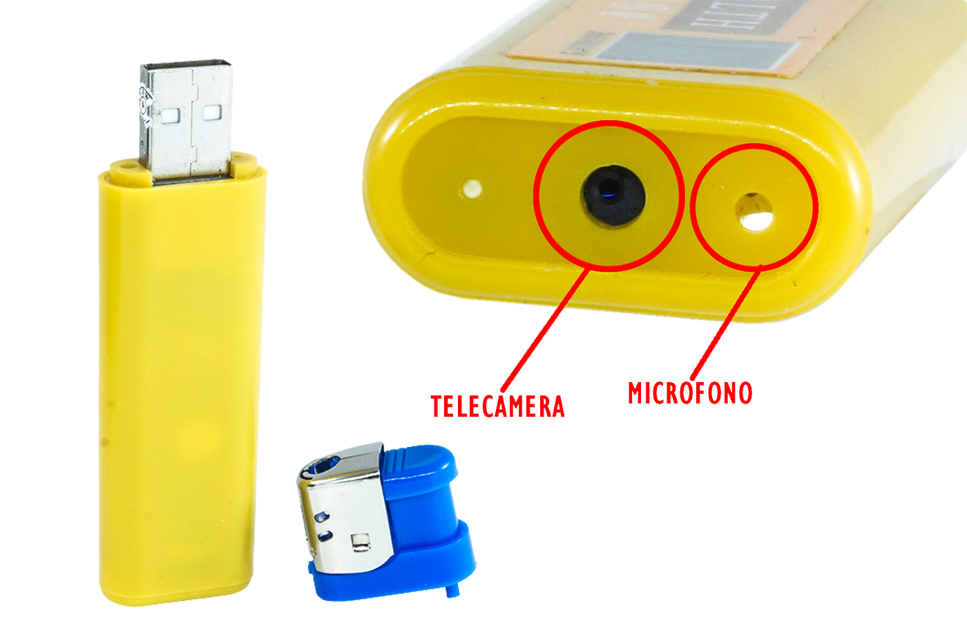 ACCENDINO MINI CAM MICROSPIA VIDEOCAMERA NASCOSTA USB SPY SPIA AUDIO FOTO VIDEO