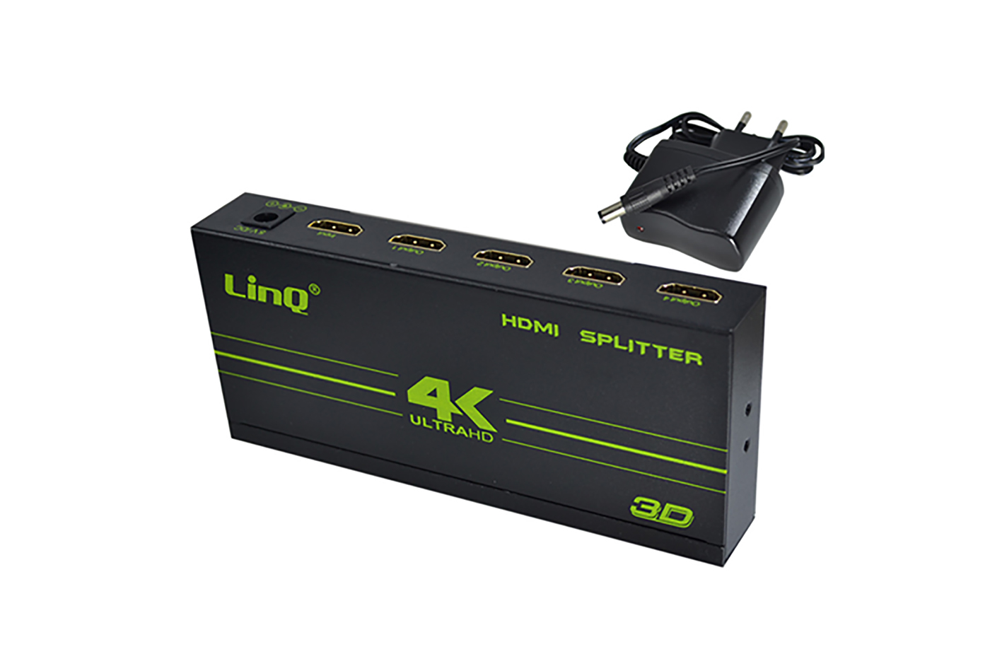 SWITCH HUB HDMI 4 PORTE SPLITTER AMPLIFICATORE 3D 1x4 LINQ VK-104W