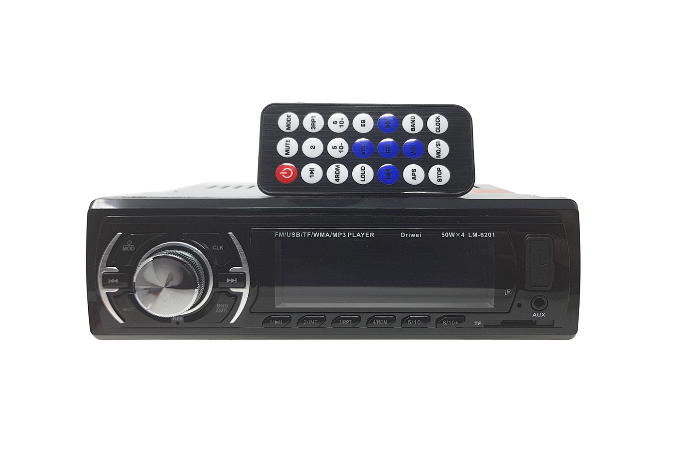 Autoradio universale stereo auto radio fm mp3 player sd usb aux LM6201