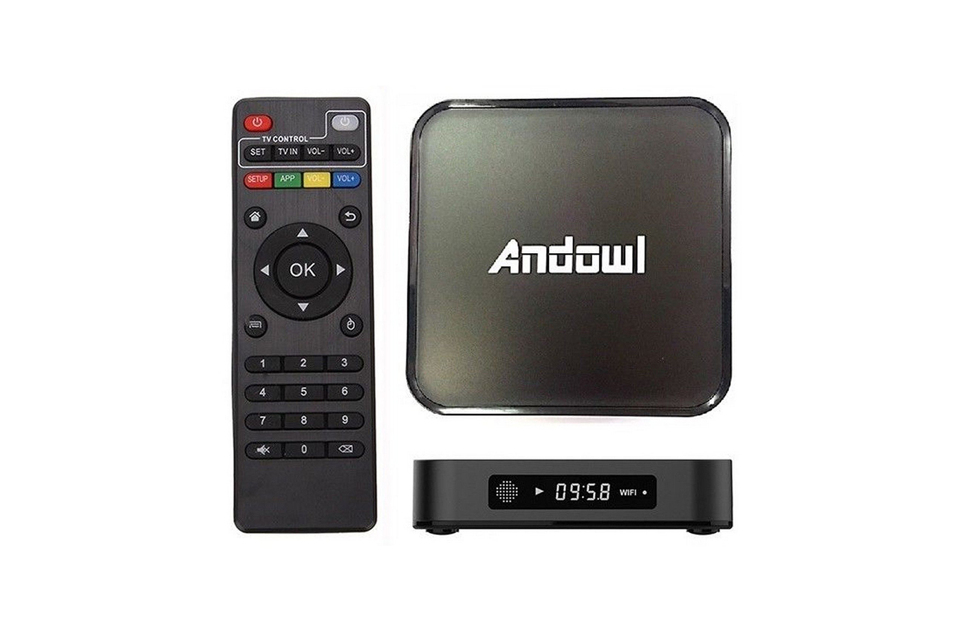Android tv box 4K HD 7.1.2 smart tv wifi otg telecomando andowl