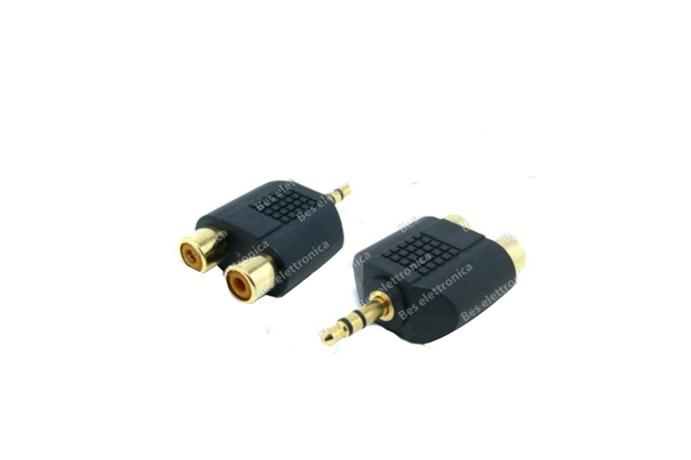 ADATTATORE AUDIO STEREO SPINA JACK 3.5 MM MASCHIO 2 RCA FEMMINA