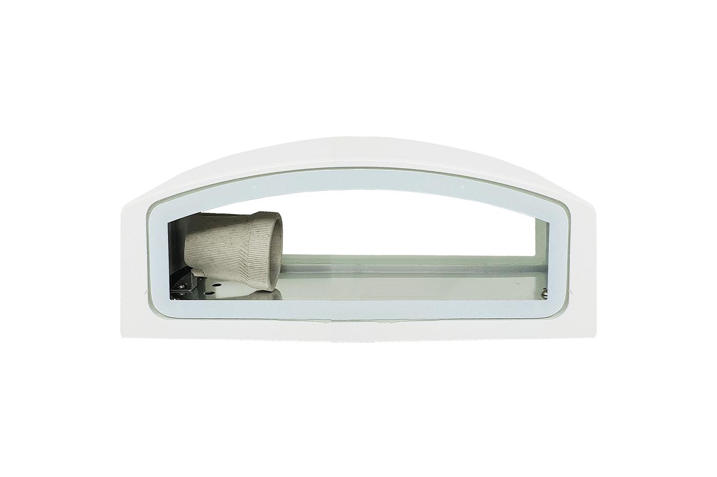 Applique esterno bianco vie lampada luce parete plafoniera