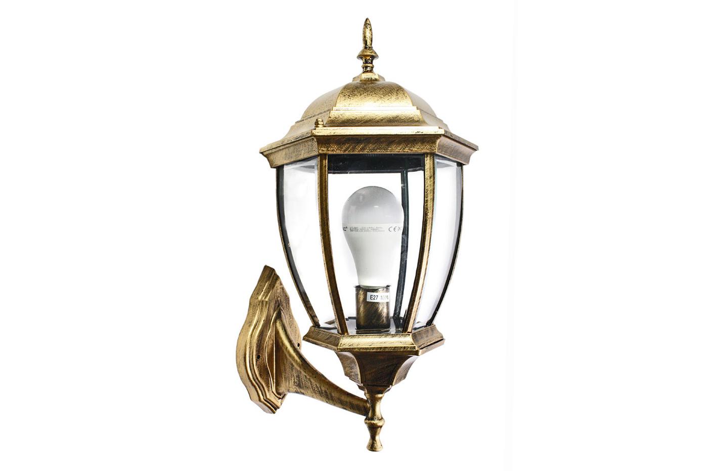 Applique lampada lanterna vintage parete ip esterno w bronzo