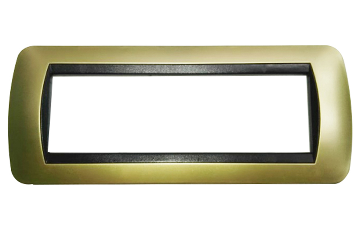 Placchetta placca bronzo compatibile living 7 posti copri interruttore 48007-12