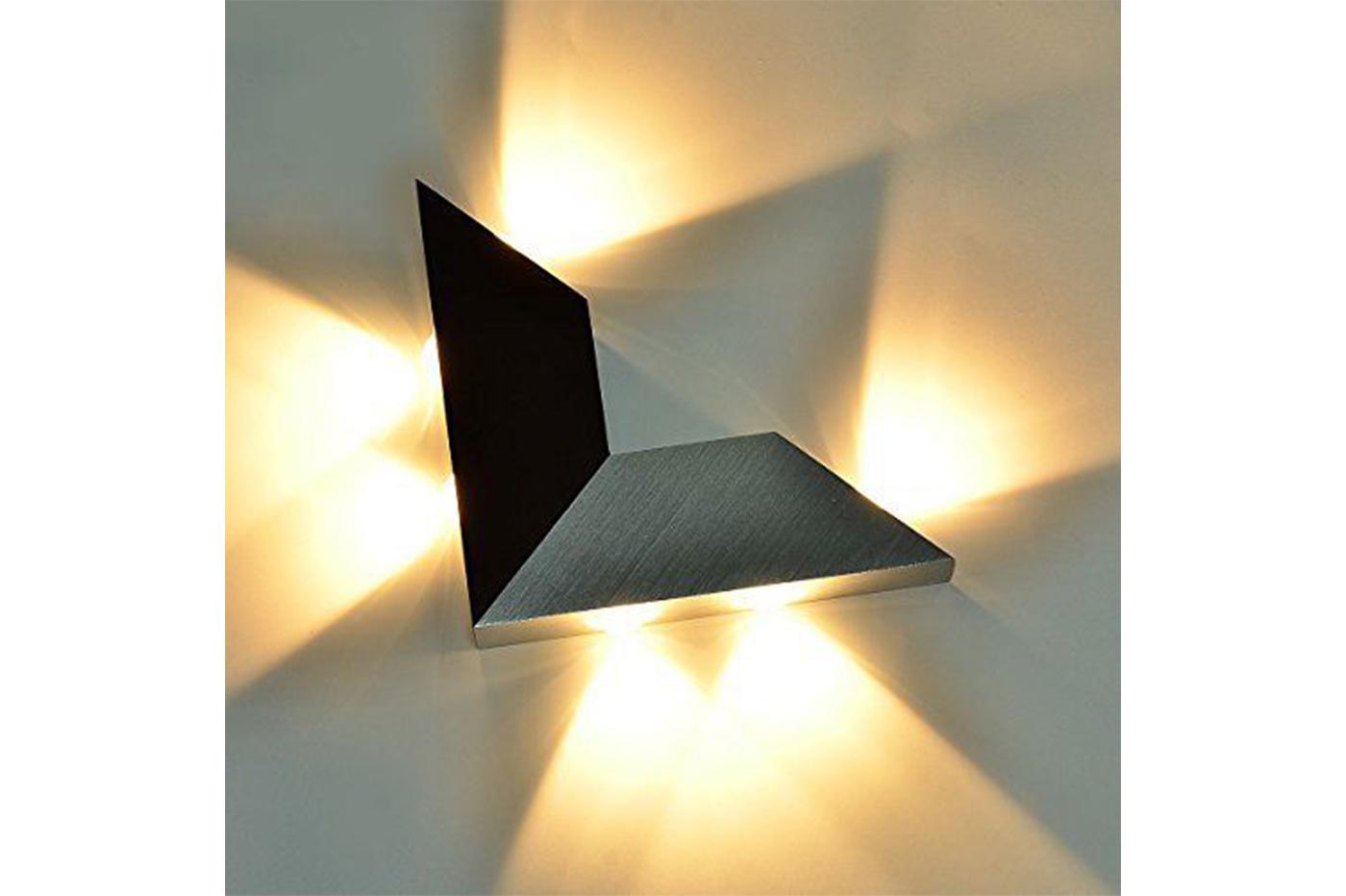 Lampada da parete in alluminio w applique moderno triangolo led