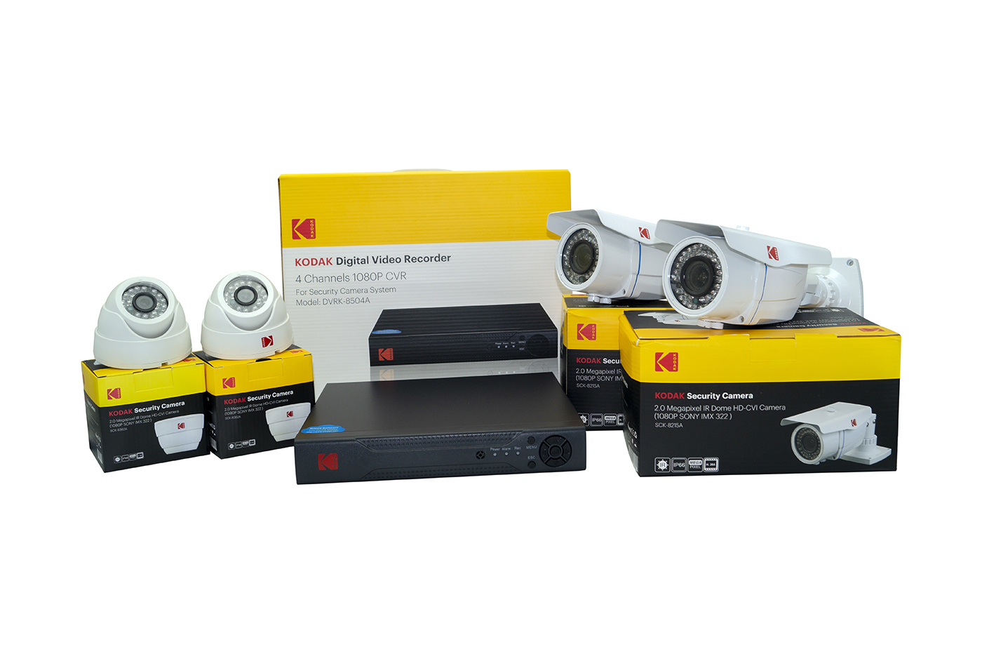 kodak Kit videosorveglianza dvr 4 ch video recorder ahd telecamere hd-cvi 2.0 mp