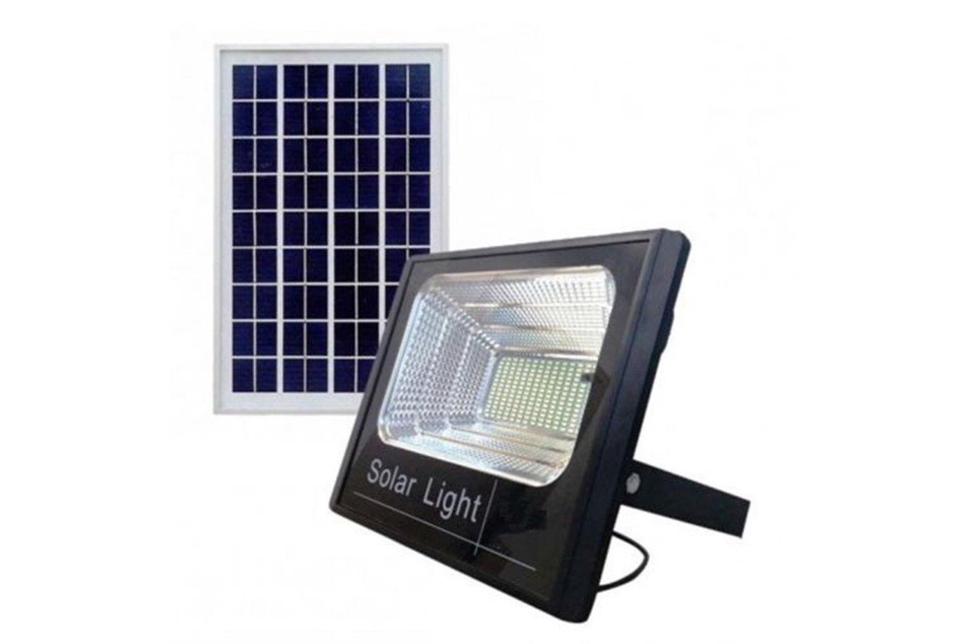 Faro led smd w con pannello solare crepuscolare telecomando