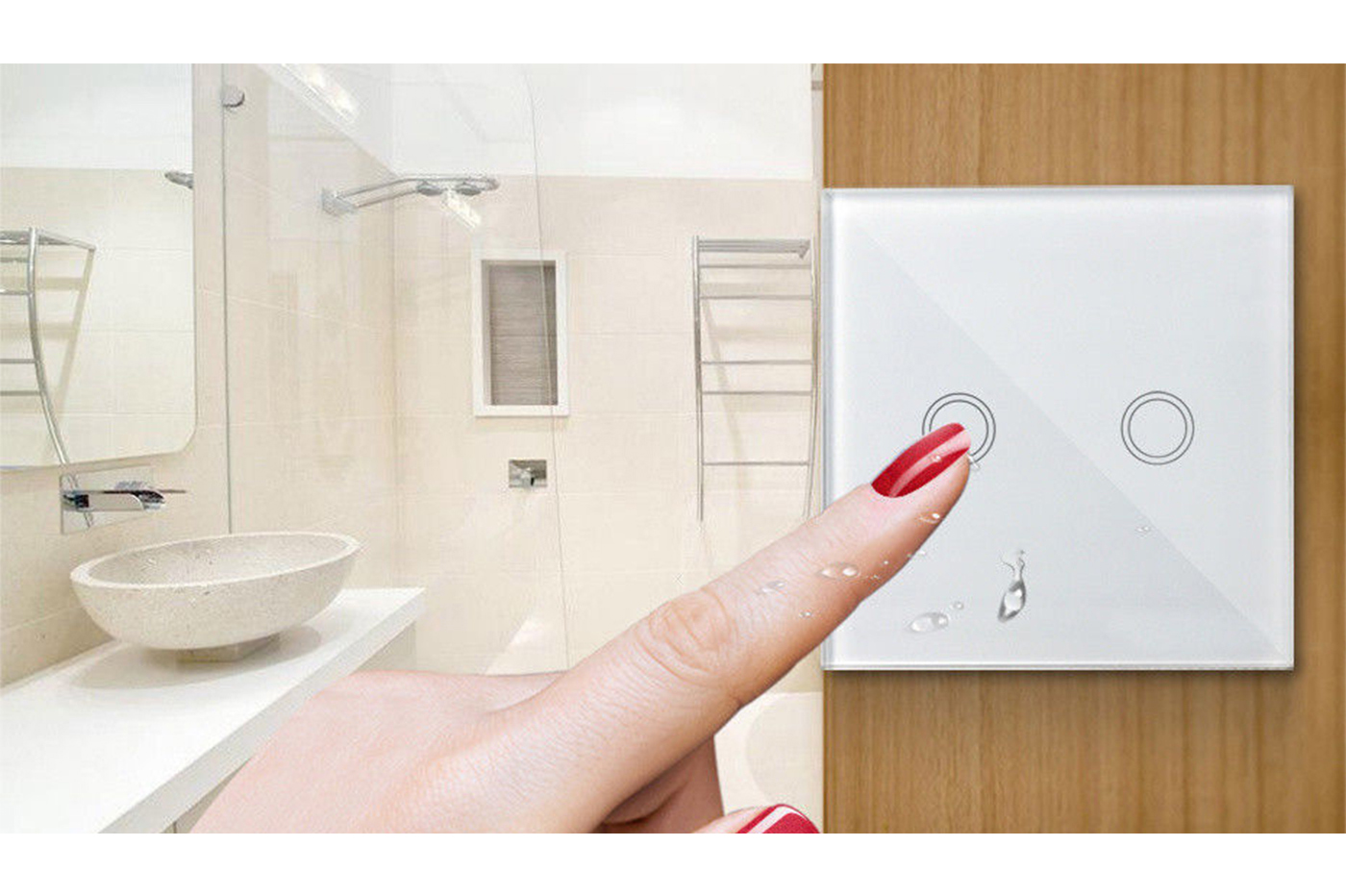 Interruttore touch controller wifi smart switch pannello vetro temperato 2 touch