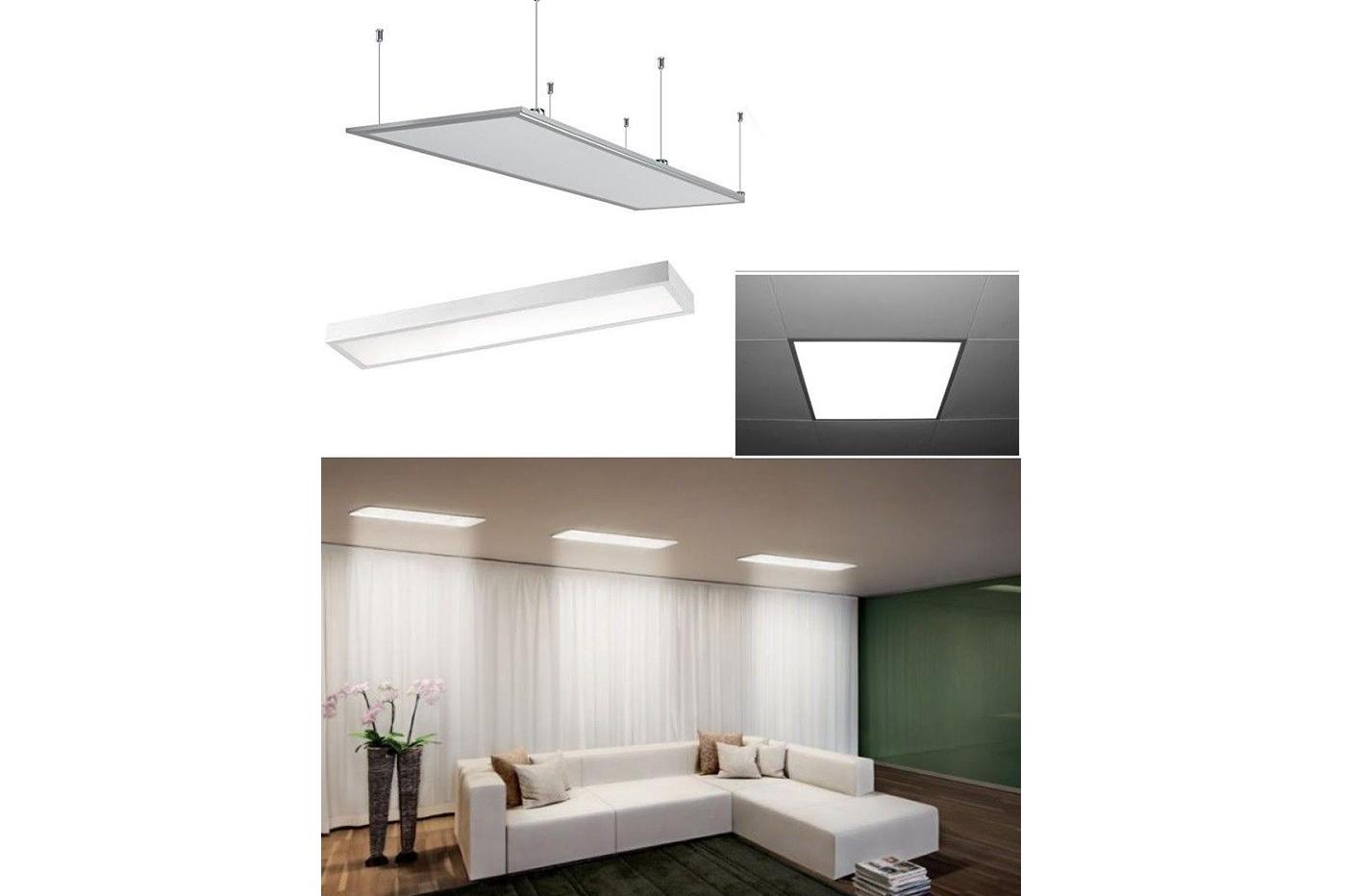 Plafoniera Led Luce Fredda : Pannello led 120 x 60 74w plafoniera soffitto luce fredda cornice