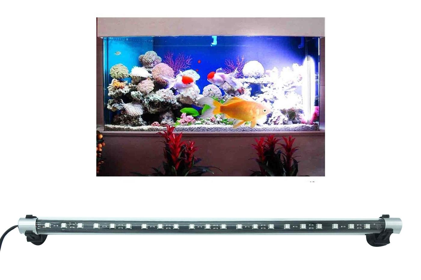 Luce Led Acquario.Dettagli Su Lampada Led Immersione Per Acquario Pesci Tubo Led Luce Rgb T4 3w