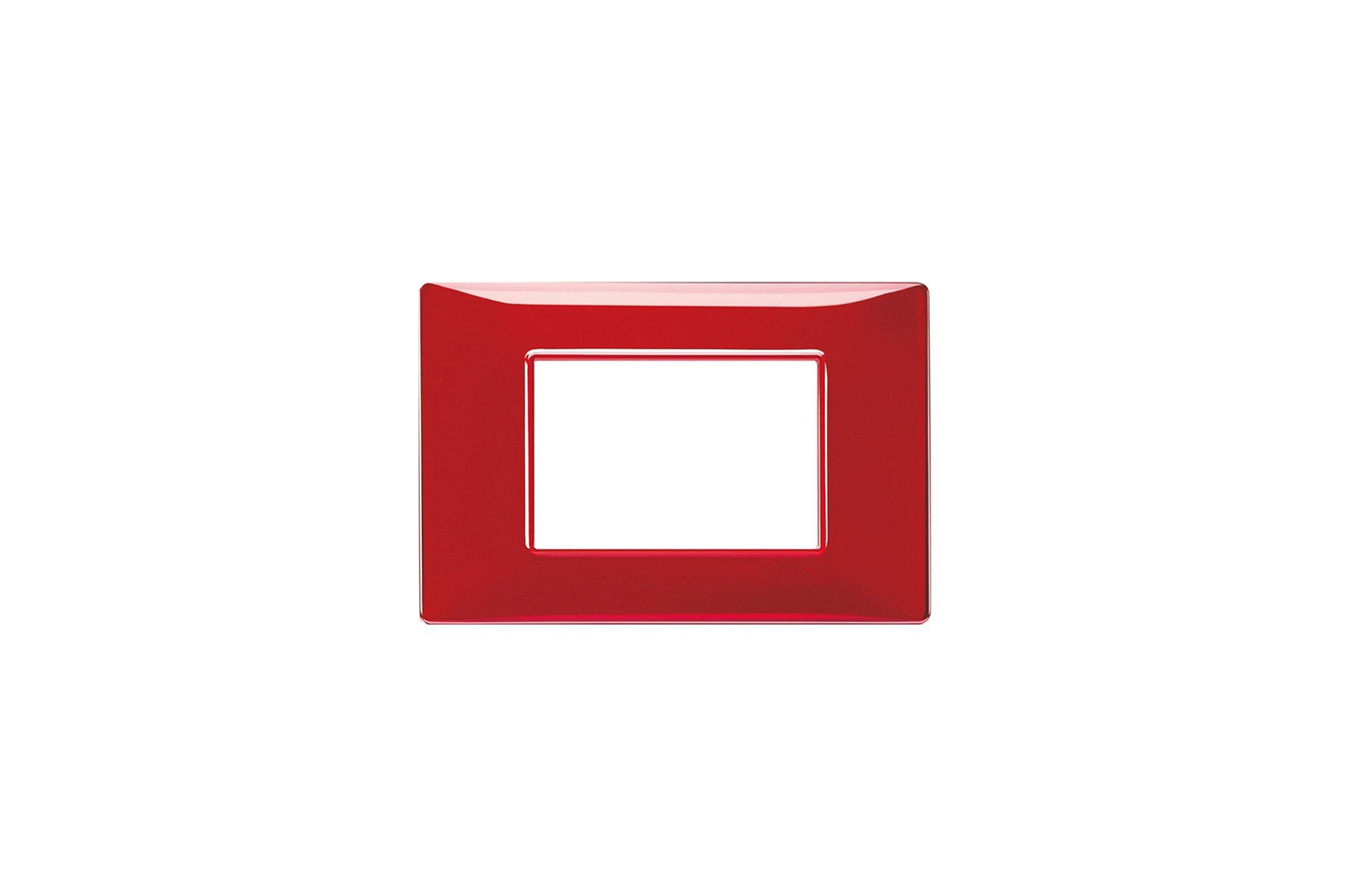 Placchetta placca rossa compatibile matix 3 posti copri interruttore c8803 red