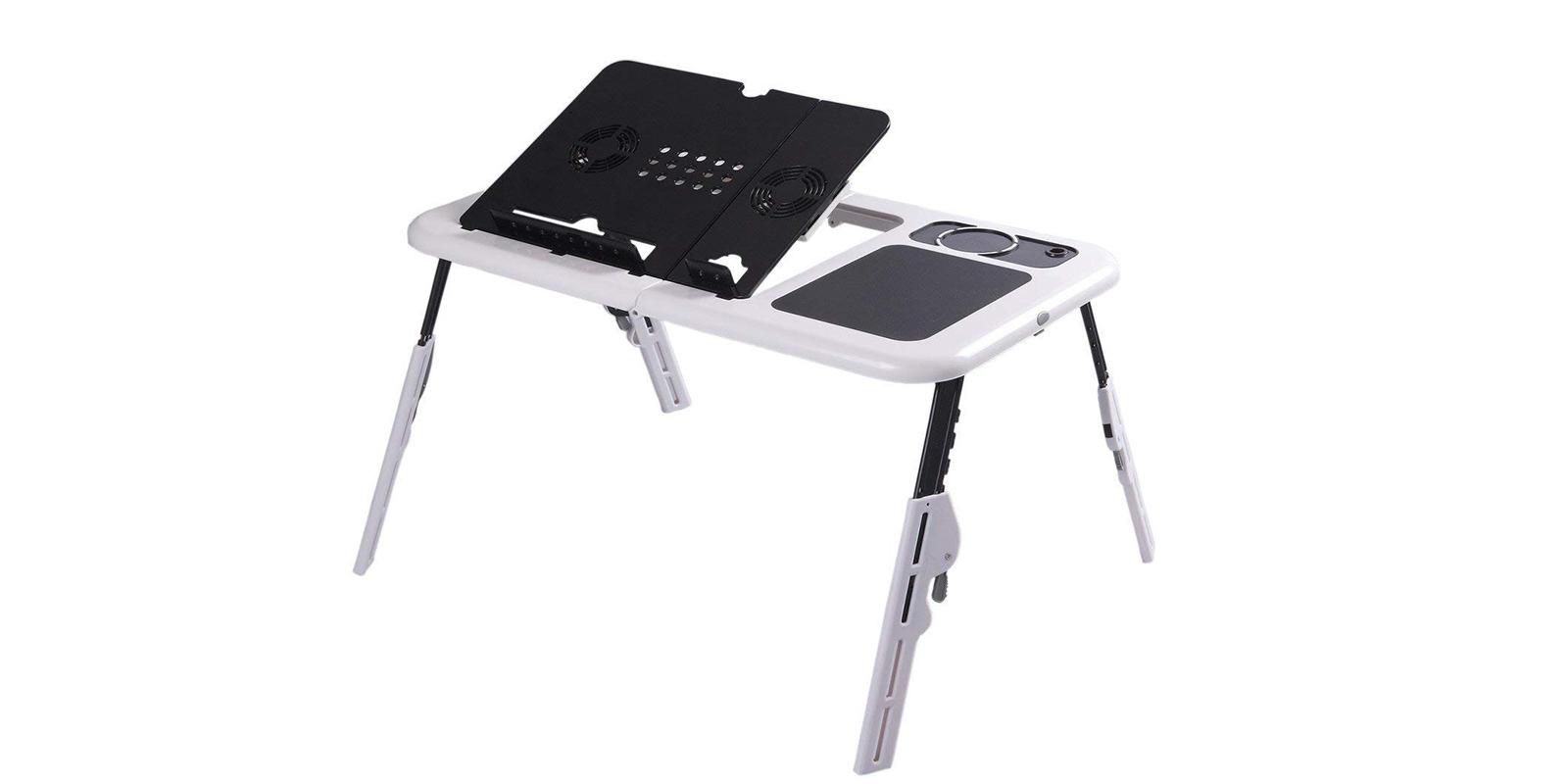 Tavolino Pieghevole Pc.Tavolino Pc Notebook Tablet Supporto Computer Portatile Pieghevole Ld09