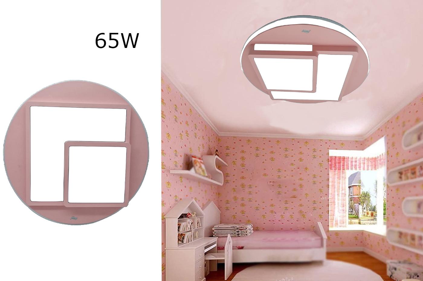 Plafoniera Led 65w Luce Fredda Geometrica Minimal Cameretta Bambini Rosa Btl 905 Ebay