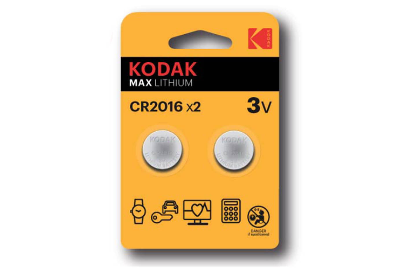 Kodak batteria CR2020 3V max lithium 2pz bottone litio DL2025
