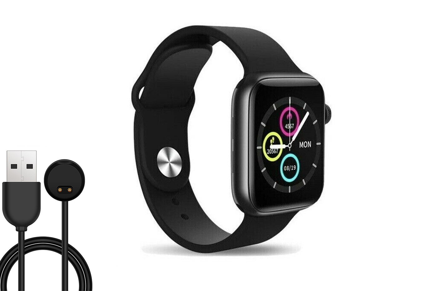 Smartwatch bluetooth ricarica wireless magnetico sonno contapassi notifiche
