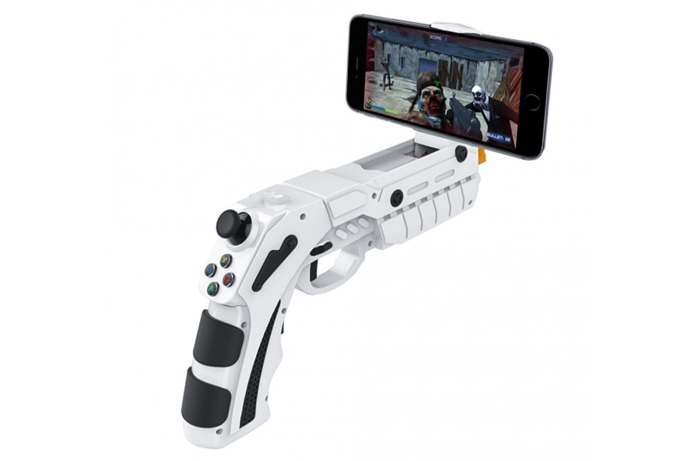 Pistola joystick bluetooth controller wireless ricaricabile supporto telefono