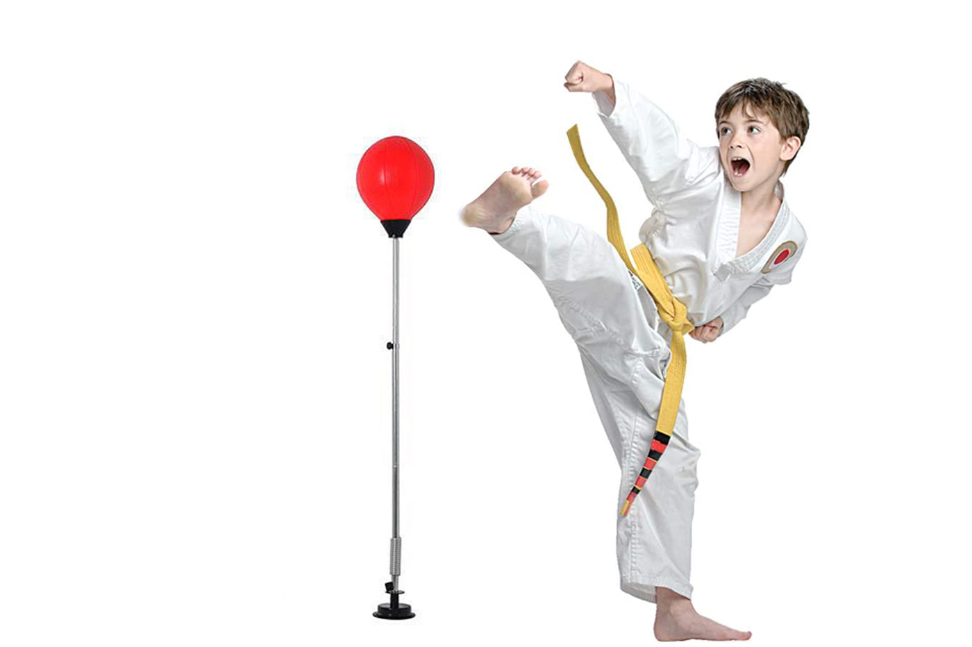 Punching Ball 146 cm palla da pugilato box karate asta regolabile