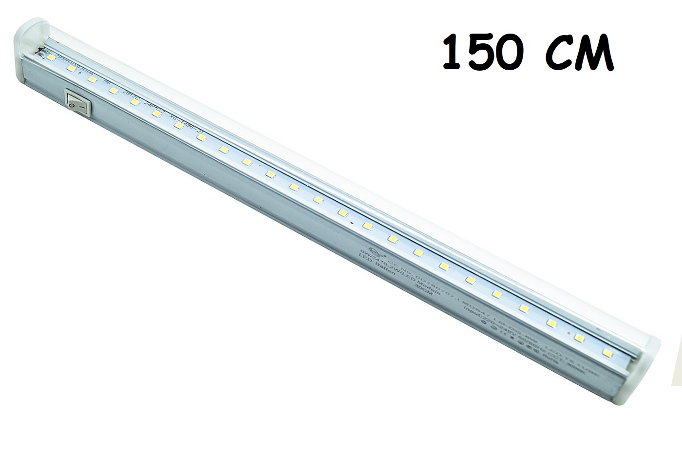 Plafoniera led sottopensile 150cm collegabile luce calda 36W neon barra led T5