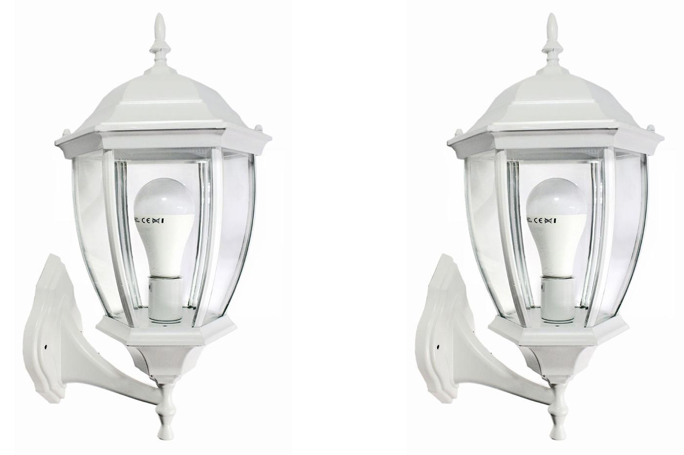 Applique lampada lanterna vintage parete ip esterno w bianco