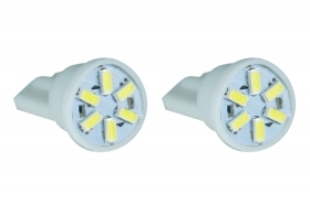 COPPIA LAMPADINE 6 LED SMD ATTACCO T10 CANBUS 12V T-009