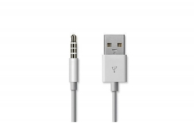 CAVO ADATTATORE USB JACK 3.5MM 3 PIN 1M COMPATIBILE CON IPOD LD-8051 DR