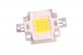 Led ricambio faro 10w 10 led luce calda chip power led