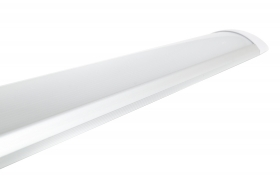 Plafoniera led slim silver 60 cm 20w luce calda barra applique lampada soffitto