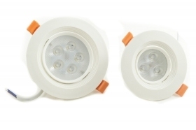 FARETTO LED INCASSO SOFFITTO A MOLLA  5 W 5 LED LUCE FREDDA ORIENTABILE 220V DR
