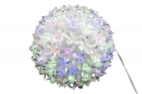 Palla 100 led sfera luminosa luci di natale decorazioni fiori multicolor
