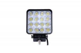 Faro supplementare auto fuoristrada barche quadrato 16 led 48 w basic