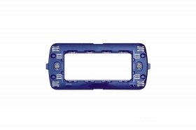 Supporto placca interruttore muro blu placca 4 posti compatibile living