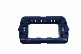 SUPPORTO PLACCA INTERRUTTORI INTERRUTTORE MURO BLU 3 POSTI COMPATIBILE LIVING