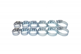 Set fascette stringitubo metalliche 16 - 27 mm 10pz master hand