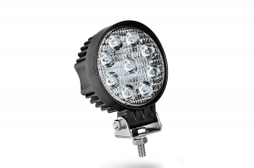 Faro led supplementare auto fuoristrada rotondo 9 led 27w DR