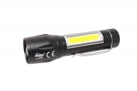Mini torcia led 3 in 1 portatile clip zoomabile driwei te-80040