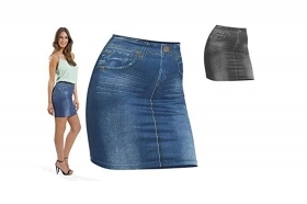 Gonna snellente modellante effetto jeans shape skirt tg  l-xl