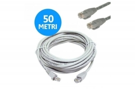 CAVO CABLATO UTP CAT.5E RETE LAN RJ45 PC INTERNET 50 METRI LINQ IT-50M
