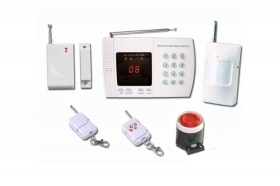 Kit antifurto allarme casa ufficio wireless display controllo remoto 1 pir