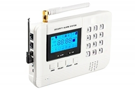 Kit antifurto allarme casa ufficio wireless gsm display controllo remoto 1 pir
