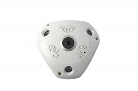 VIDEOCAMERA PANORAMICA IP GRANDANGOLO 360 DIGITALE VR CAM 3LED SOFFITTO TF CARD