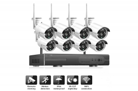 Kit videosorveglianza NVR wireless full HD WiFi IP 8 telecamere 2mp