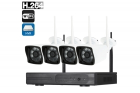 Kit videosorveglianza NVR wireless full HD WiFi IP 4 telecamere 6LED 5G