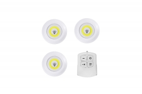 3 pz luci di emergenza luci led armadio luci a batteria remote control wireless