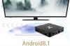 Android tv box 5G android 8.1.0 4G 32G 4K 3D smart tv wifi telecomando model X