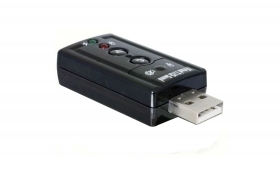 ADATTATORE SCHEDA AUDIO PC USB 2.0 3D SOUND AC3 VIRTUAL 7.1