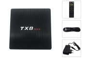Android tv box 64 gb 4K HD 7.1 smart tv wifi telecomando TX8 max