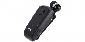 Cuffia mono auricolare cuffie wireless bluetooth smartphone 2in1 clip on F-920